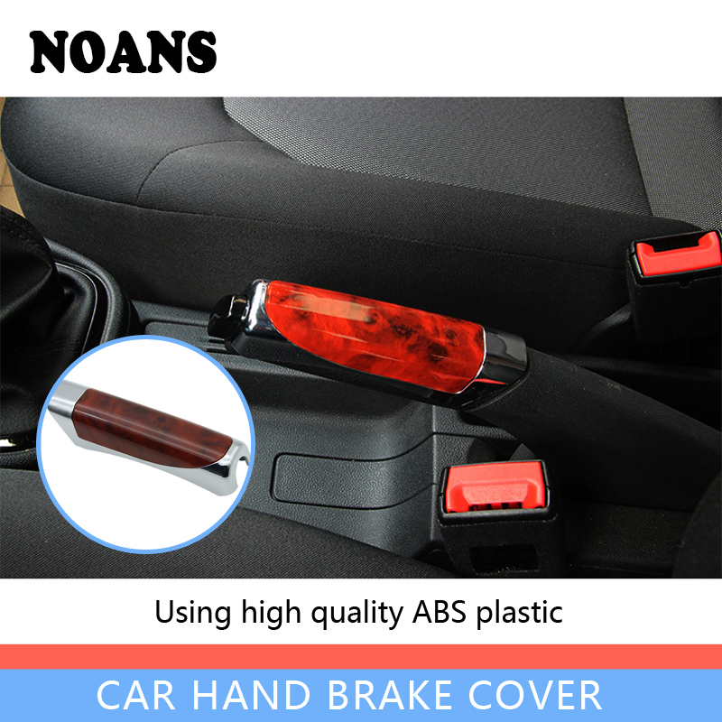 NOANS Car-styling Hand Brake Sticky Cover Accessories For Mercedes Benz W203 W204 Mitsubishi Lancer Asx Skoda Octavia Rapid A7