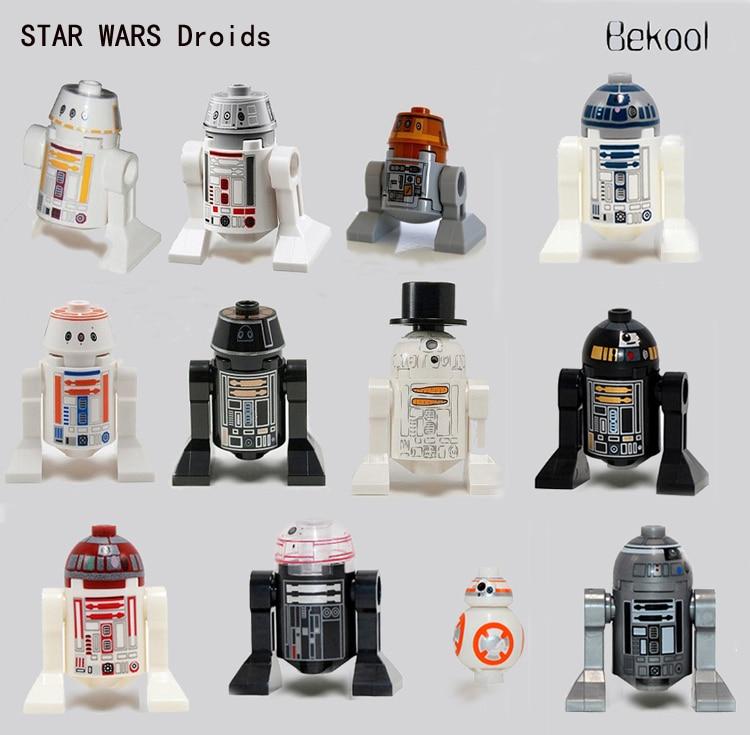 6pcs new star wars star clone wars astromech r2 d2 r2 d5