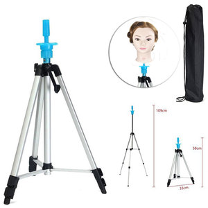 Image 1 - Adjustable Height Aluminium alloy  Wig Head Tripod Hairdressing Salon Mannequin Training head Holder 58CM 109CM
