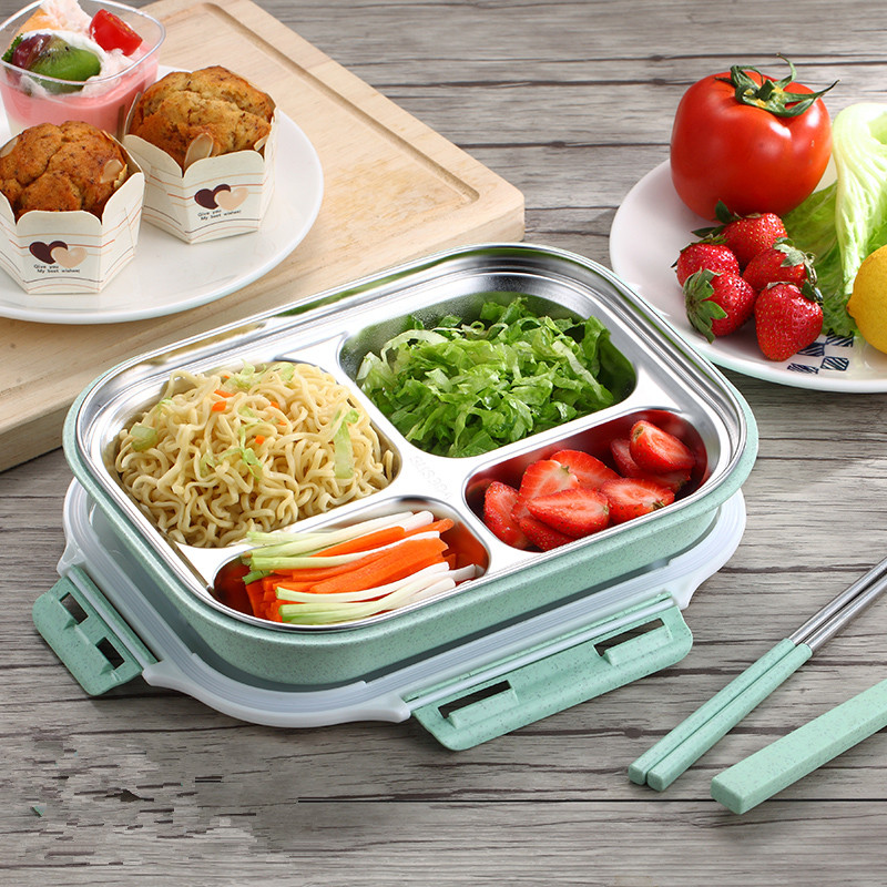 New 304 Stainless Steel Thermos Thermal Lunch Box Kid Adult Bento Boxs Portable Leakproof Japanese Style Food Container