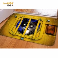 HUGSIDEA Fashion Cat Animal Bedroom Floor Door Carpet 3D Color Printing Living Room Outdoor Mats Kitchen