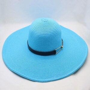Image 2 - BINGYUANHAOXUAN Per Le Donne Sole di Estate Del Cappello Unisex Cappello Panama 2018 di Nuovo Modo di Arrivo di Paglia Della Protezione Della Spiaggia