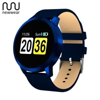 Newwear Q8 0.95 inch OLED Color Screen Drink reminder Call Reminder Blood Pressure Heart Rate Smart Watch for Android iOS