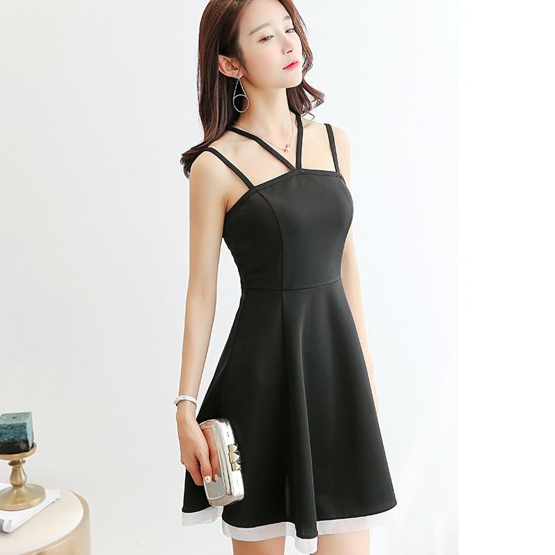 Korean Dress Women Clothing Sleeveless Cute Sexy Dress -4416