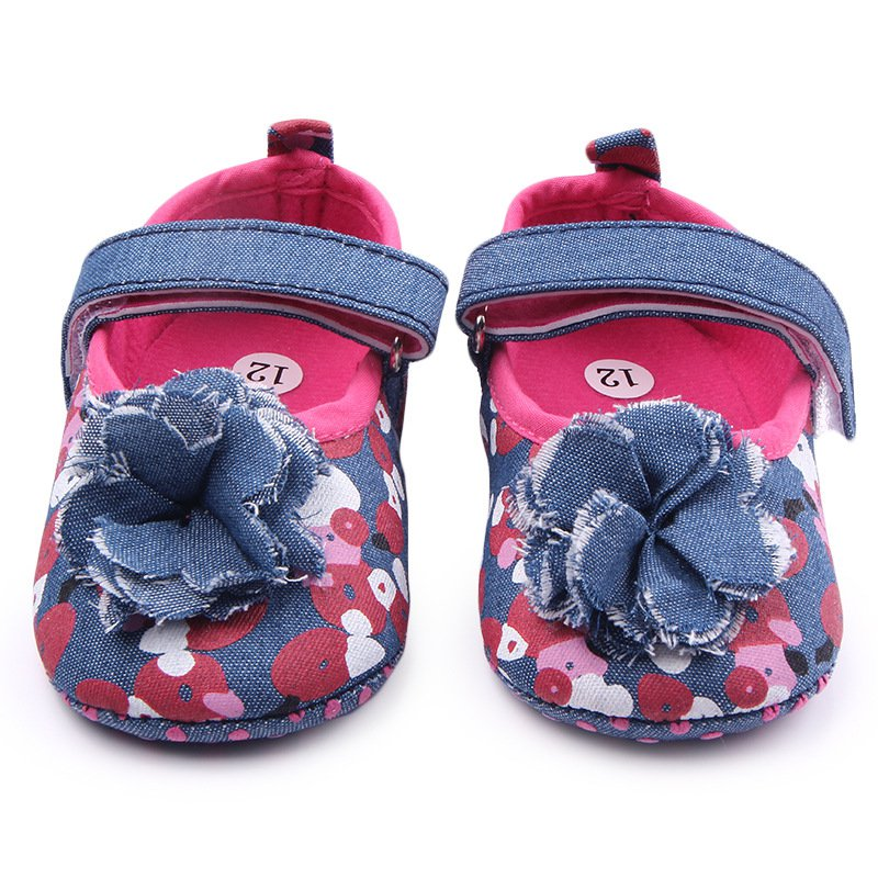 Cute Newborn Toddler Baby Girls Kid Shoes Floral Soft Crib Shoes Infant Party Shoes