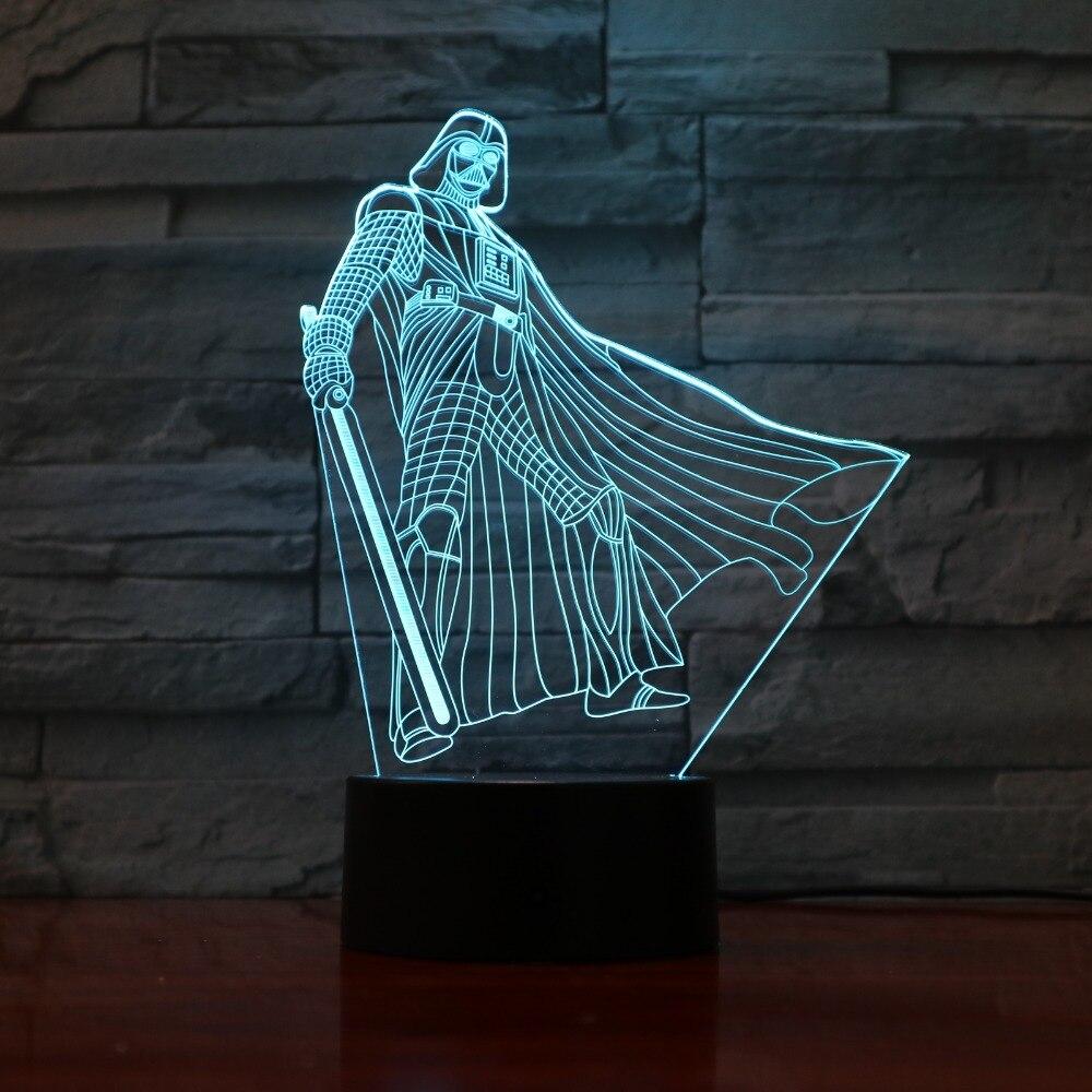 Новый аниме фигура герой 3D Иллюзия свет стол акрил ночника сенсорный пульт дистанционного Управление 7 цветов домашний свет подарок для дет...