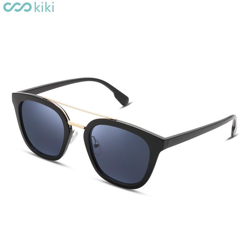 273f0da2b48400 KIKI Femmes Hommes Polarisées lunettes de Soleil Rétro Rond PC Cadre Marque  Design Noir Lunettes de Soleil De Luxe Conduite lunettes de soleil mujer  dans ...