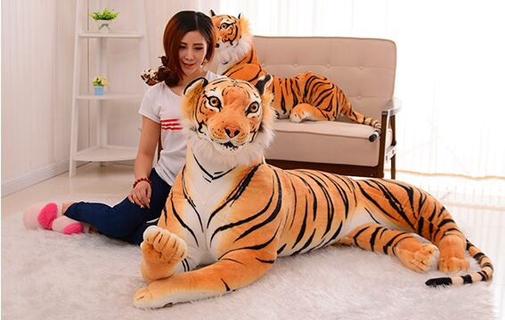 fillings toy, simulation animal huge 170cm prone yellow tiger plush toy,home Home Decoration surprise birthday gift h521 stuffed animal 110cm plush tiger toy about 43 inch simulation tiger doll great gift free shipping w018