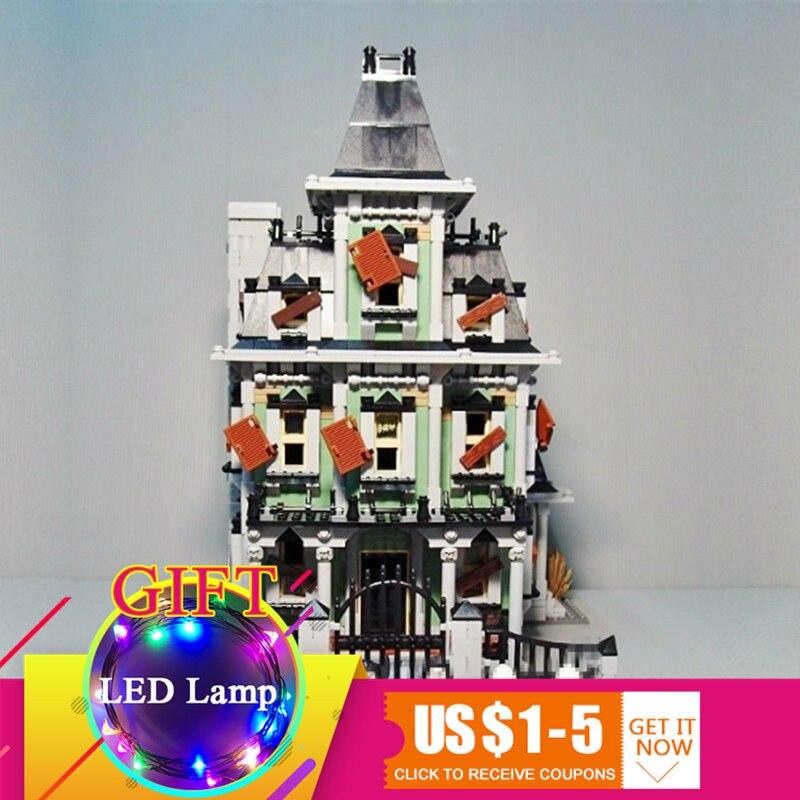купить 16007 2141Pcs Monster fighter The haunted house Model set Building Kits Model Compatible With 10228 toys lepin по цене 5643.79 рублей