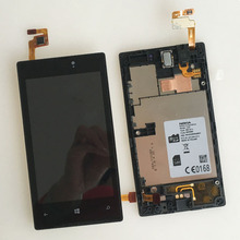 For Nokia Lumia 520 LCD Display+Touch Screen Digitizer Glass Assembly Panel+Frame Relacement