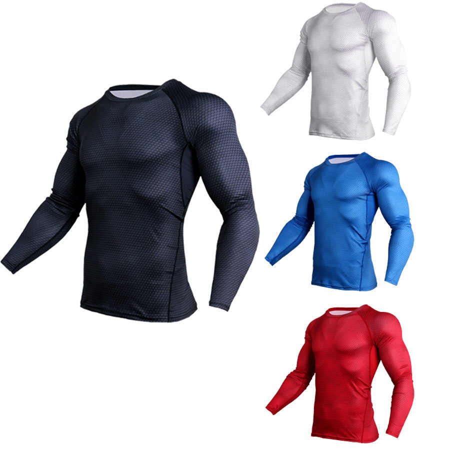 2018 Nieuwe Lange Mouw T-shirt Sport Mannen Snel Droog heren Fietsen Base Dragen Snake Gym Apparel Fitness Heren Rashgard panty jerseys