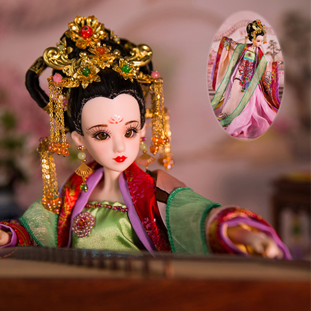 Fortune Days East Charm ancient costume doll 1/6 like BJD Blyth dolls Empress Wu with makeup 14 Joint body High Quality gift genuine east charm costume 1 6 like bjd blyth doll ni wu 3d eye 14 joint body with makeup high quality collection gift toys