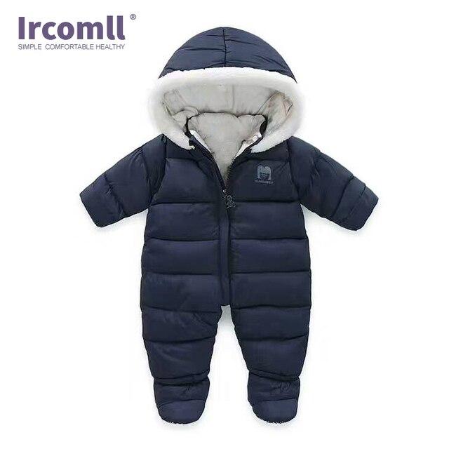 852acc0b8e4d € 20.14 44% de DESCUENTO|Mono grueso de una pieza para bebé recién nacido  en el interior más mono suave de terciopelo de invierno para niños traje en  ...