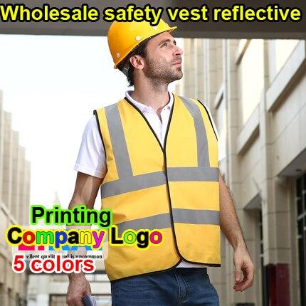 SPARDWEAR Hi vis reflective safety vest company printing logo safety reflective vest print logo free shipping jiade two tone hi vis safety vest reflective