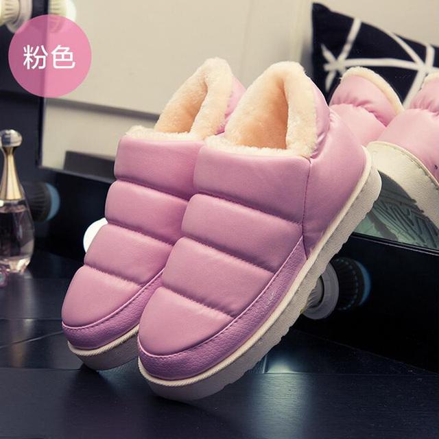 Nuevas mujeres de la llegada botas de nieve resbalón talón plano a prueba de agua botines para las mujeres gruesas botas de plataforma de invierno de la felpa caliente zapatos