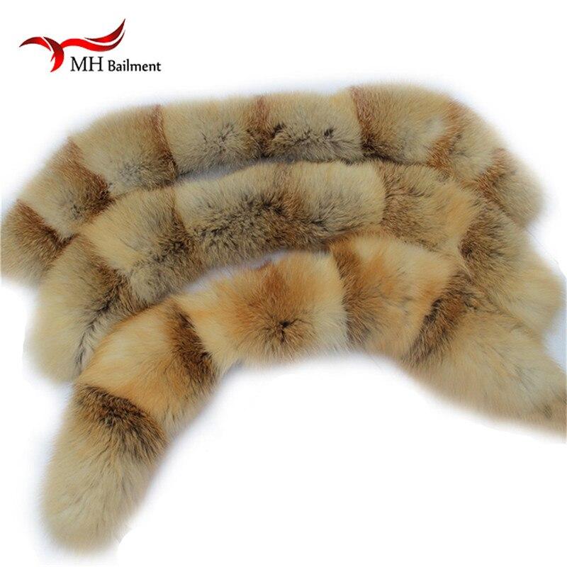 New Natural Fur Collar Luxury Silver Fox Fur Collar Ring Scarf Women Genuine Fox Fur Collar for Down Jacket Wholesale L#74