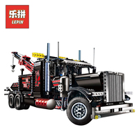 lepin 20020 Technic series the Tow Truck Model Building Blocks set Compatible legoingly 8285 classic car styling children toy