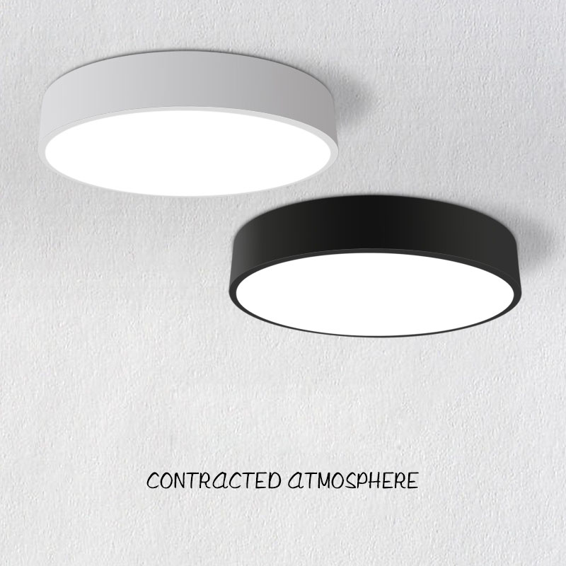 Modern Round White/Black Color Led Acrylic ceiling lights, 18W/24W/36W/48W for living room bedroom home Light Fixture