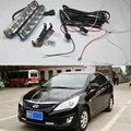 One pair high power 10W 12V auto led light drl daytime running light 5 led drl daylight kit 8000K ultra white drl lamp for Mazda