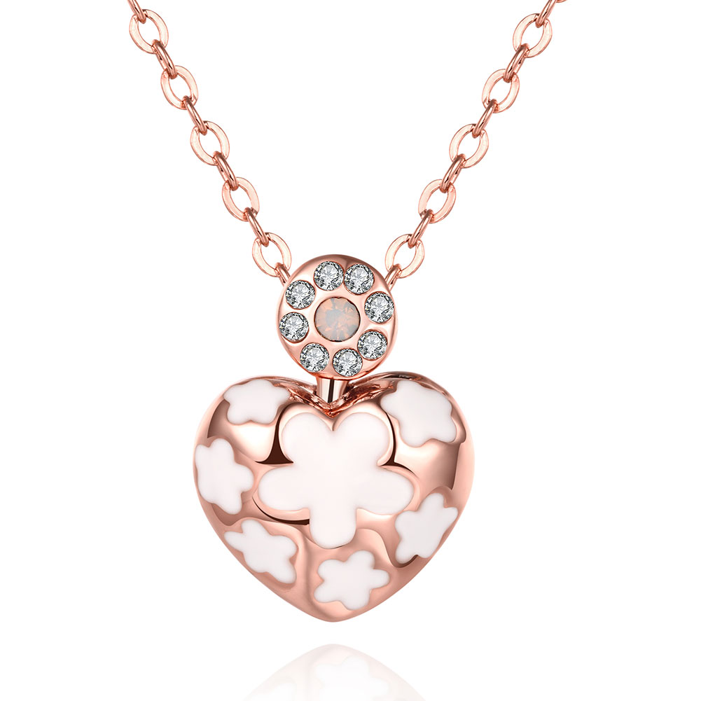 AKN075 2016 New Fashion Rose Gold Color Czech Crystal ...