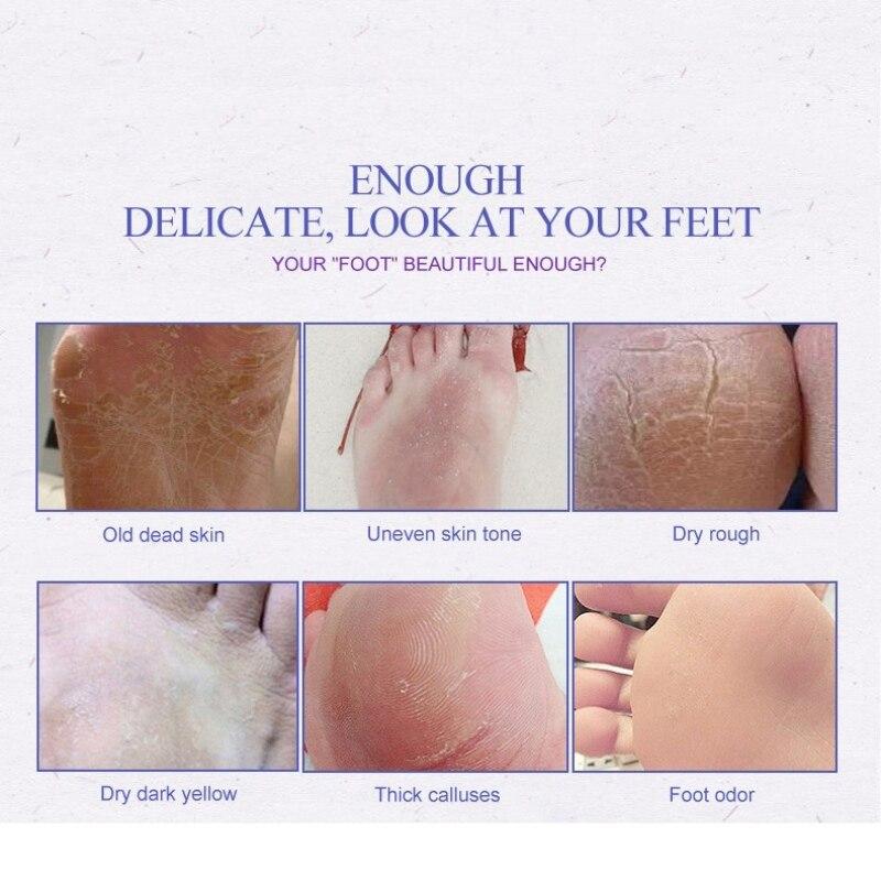 Efero Peeling Fuß Maske Für Beine Creme Lavendel Essenz Heels Entfernen Die Haut Glatt Pediküre Socken Baby Füße Schälen Maske Moderater Preis Hautpflege