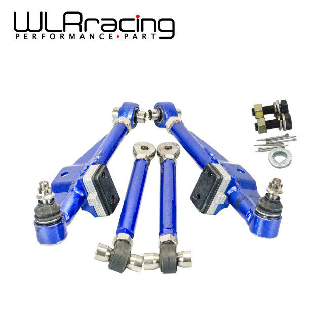 WLR RACING - FRONT LOWER CONTROL ARM For NISSAN S13 Adj. Front Lower Control Arm - Blue Color WLR9831 vr racing racing s14 adj front lower control arm blue only pair for nissan vr9832