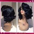 14 дюймов бразильский короткий парик боб cut парики объемная волна glueless кружева передние парики человеческих волос с волосами младенца для чернокожих женщин