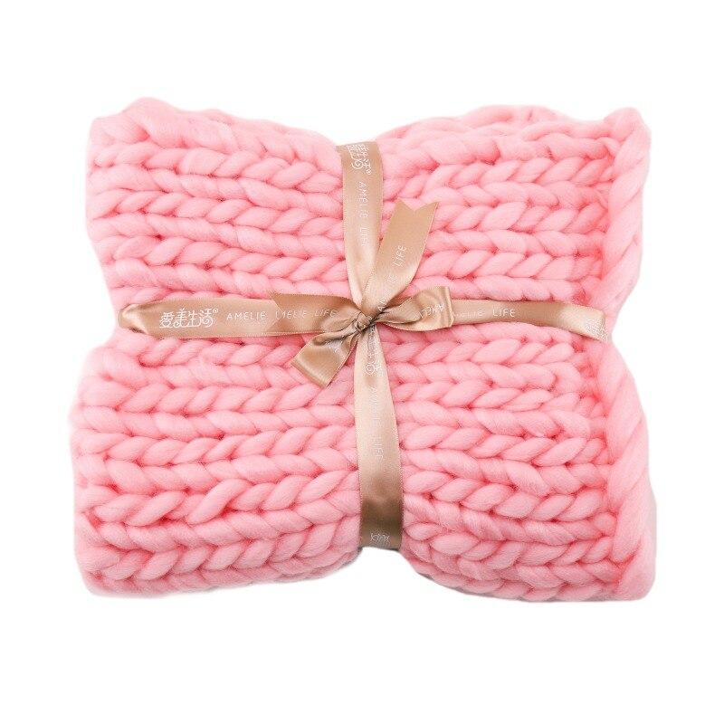 Couverture tricotée à la main en laine épaisse laine mérinos épaisse en laine à tricoter livraison directe