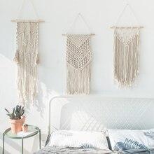 Большой гобелен нордический V макраме настенные подвесные Свадебные украшения ручной работы украшения комнаты вечерние подарок для женщин