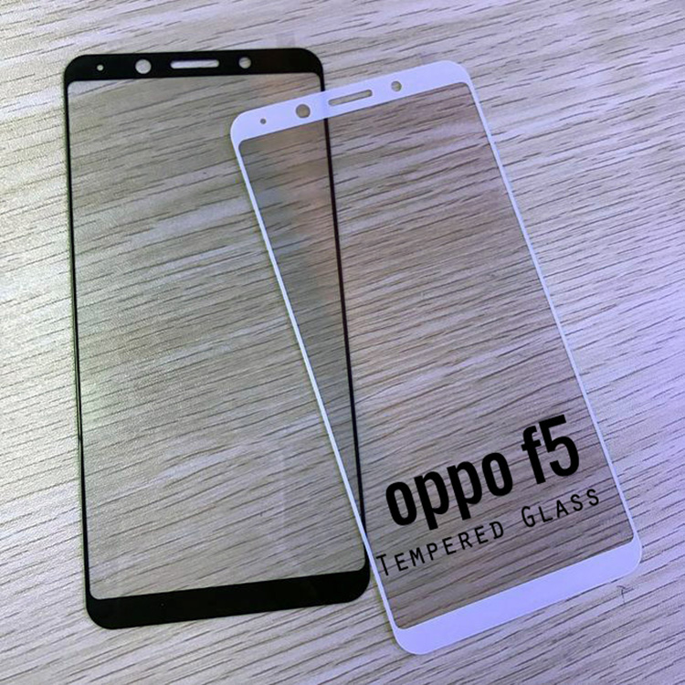 OPPO F5 Screen Protector,3D 9H Hardness Anti Scratch HD Clear Tempered Glass