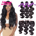 Peruvian Virgin Hair With Closure 3 bundles,Peerless Peruvian Body Wave With Closure,Peruvian Human Hair Bundles With Closure