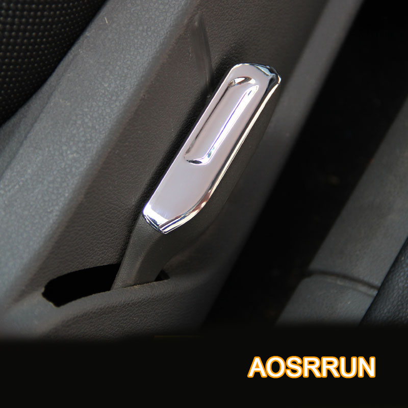 ABS Chrome trim alloy seat wrench paillette modified trim For <font><b>Ford</b></font> <font><b>Focus</b></font> 2 sedan hatchback 2006-2009 <font><b>2010</b></font> 2012 car accessories image