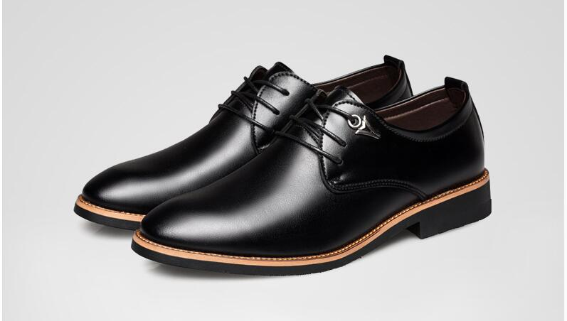 De Noir Noir Le Occasionnels Entrepreneurs Portant Jeunes Véritable Printemps or Cuir Des Guixianglai marron gris Nouveau Hommes En Est Britannique Pointu Chaussures 5wSBqU
