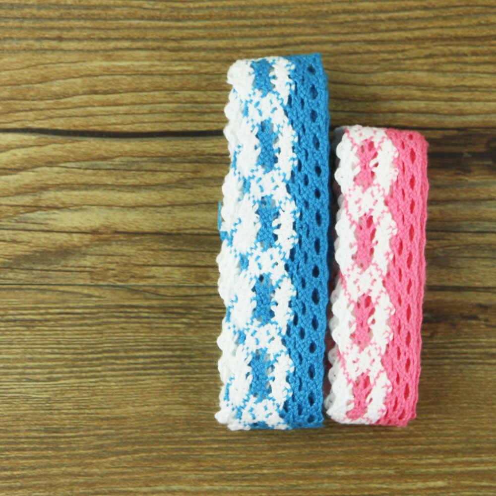 2 kolor koronki bawełniane koronki białe tkaniny 100% bawełniana haftowana dodatki do odzieży szeroki A0281