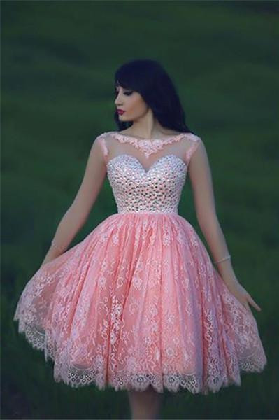 Popular Pink Cocktail Dresses for Juniors-Buy Cheap Pink Cocktail ...