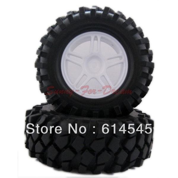 4PCS RC 1:10 Car Climbing Rock Crawler Rubber Tires Tyre & Wheel Rim 905W-7006