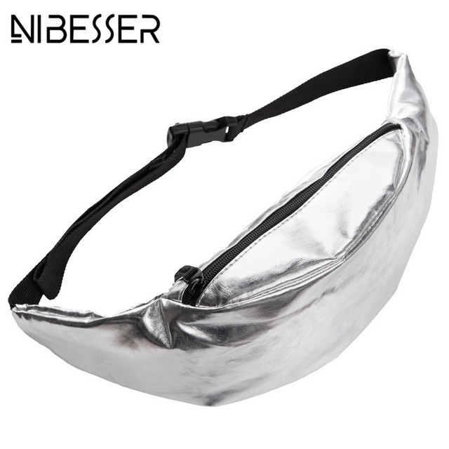NIBESSER Fashion Waist Pack Women Fanny Pack PU Leather High Quality Waist Bag Casual Chest Bag Bolsa Masculina Female Belt Bag