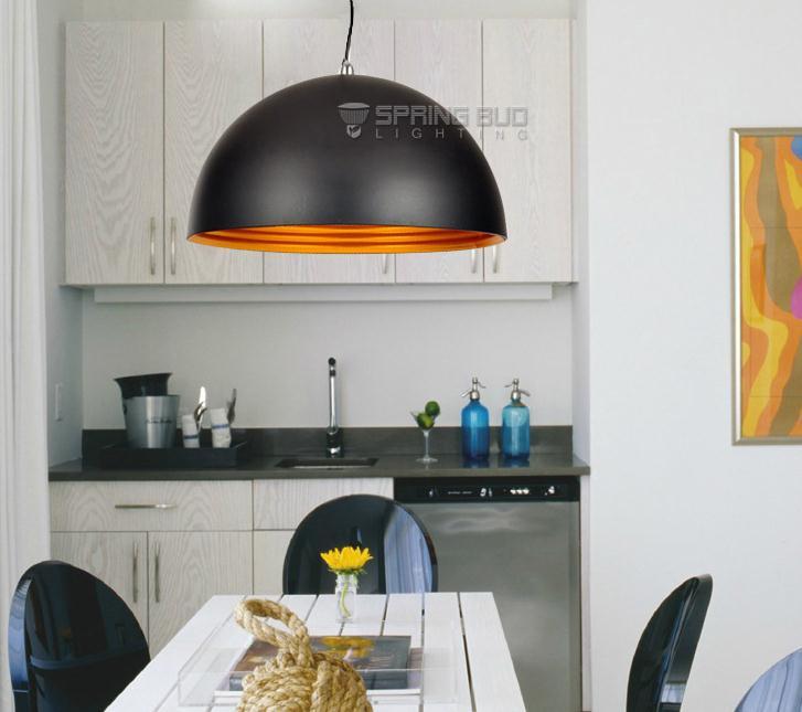 Dvouvrstvý 30cm železný půlkruh černě bílá zavěšený Stropní svítidla vinobraní restaurace ložnice osvětlení foyer stropní svítidla