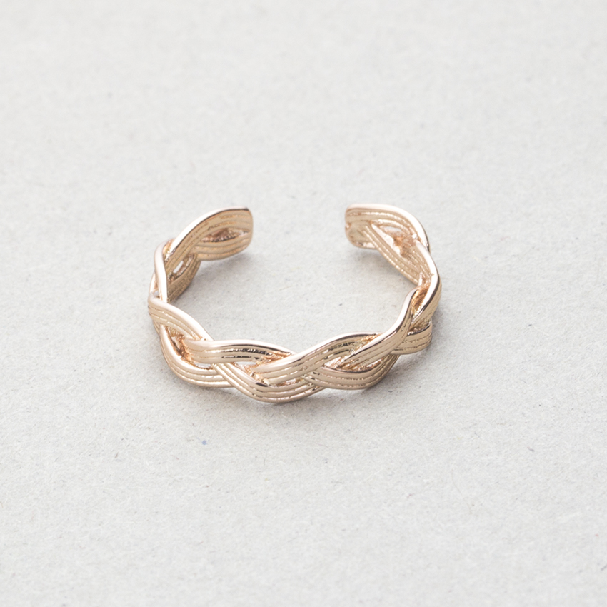 Drop Shipping Fashion Adjustable Anel Boho Jewelry Femme Bijoux Rose Gold Color Unique Weave Rings For