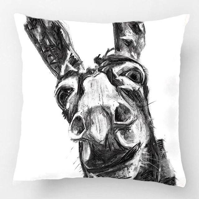 Throw Pillow Case Decorative Cushion Cover Design With Red Fox Fox Home Decor Pillowcase
