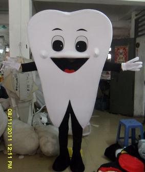 ฟันโฆษณามิ่งขวัญเครื่องแต่งกายขนาดผู้ใหญ่เครื่องแต่งกายภาคีจัดส่งฟรี