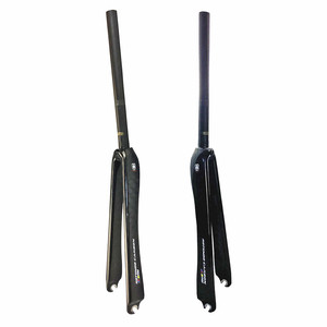 new carbon road bike fork 25.4mm 1 inch fork carbon bicycle parts 700c forks 40mm offset Bicycle Accessories