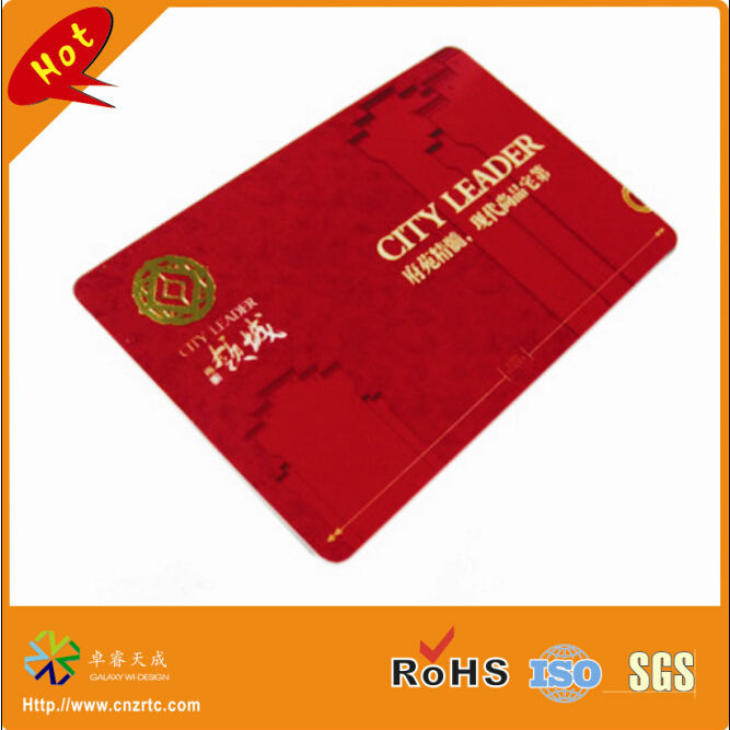 custom CR80 round corner CMYK full color plastic sample card printing