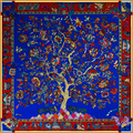 2016 Square Silk Scarf Women Shawl Fashion Brand luxury Print Tree Bandana Big Size Soft Scarves Brand Hijab 130cm*130cm