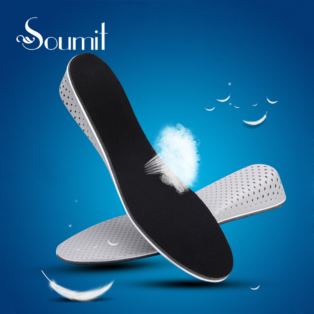 Soumit Unisex Height Increase Insoles Memory Foam Air Cushion Heel Lift Insert Shoe Pads Comfortable Insoles for Men and Women high quality new 3 layer 7cm air bubble cushion shoe lift height increase heel insoles pair taller for men and women
