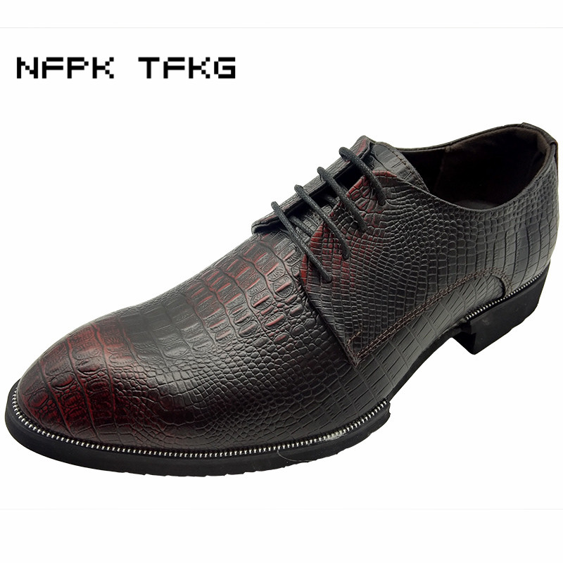 men casual business wedding formal dress genuine leather shoes breathable lace-up shoe pointed toe derby footwear sapatos hombre new fashion men business office formal dress solid genuine leather shoes lace up pointed toe flats oxfords shoe spring autumn