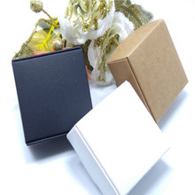 50pcs New DIY Kraft Paper/Black/white Gift Box For Wedding Favors Birthday Party Candy Cookies Christmas party gift ideas Boxes