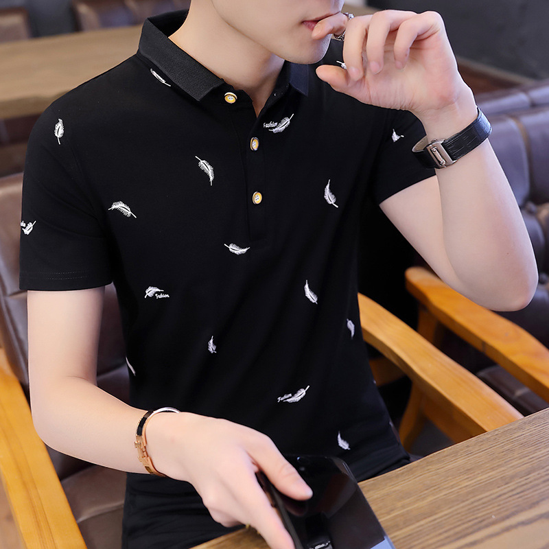 2019 Summer Cotton Man   Polo   Shirt Brand Cotton Short Sleeve Golf Tennis   Polos   Jerseys Fashion Clothing High Quality Top Business