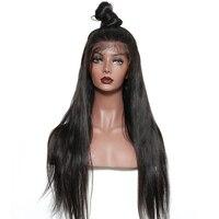 250% Плотность 13x6 Синтетические волосы на кружеве парик шелк прямо бразильский Синтетические волосы на кружеве человеческих волос парики дл