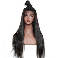 250% Density 13x6 Lace Front Wig Silk Straight Brazilian Lace Front Human Hair Wigs For Women Natural Black Sunny Queen Remy